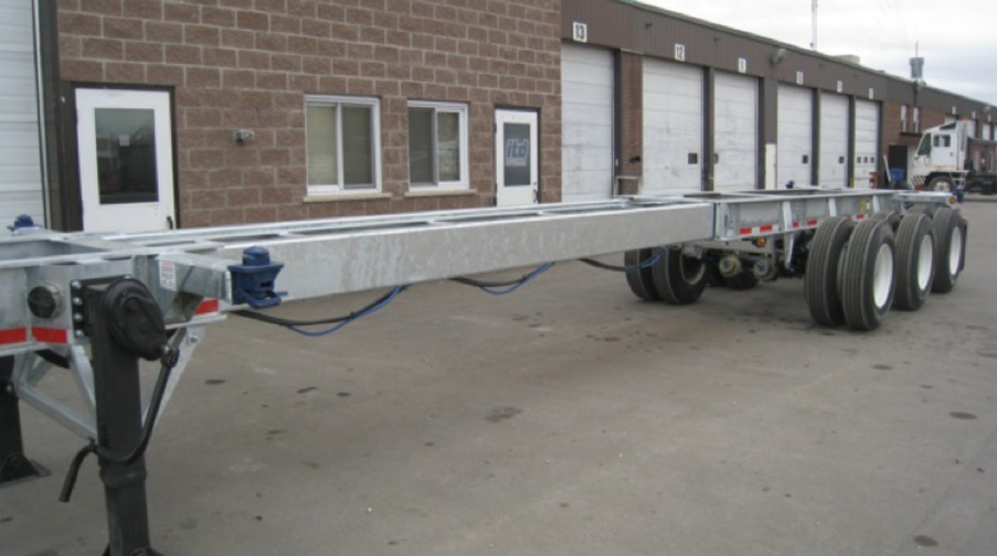 20-45 feet Extendable Tridem 60 Spread Chassis