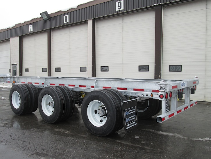 40 foot Fixed Chassis With Tridem and 1 Lift Axle