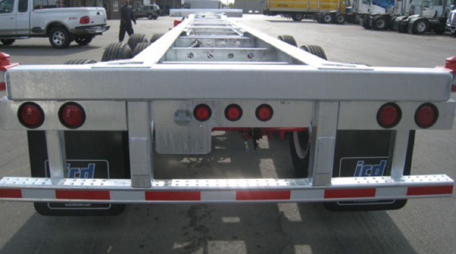 40-50 feet Extendable Tridem 60 Spread Chassis