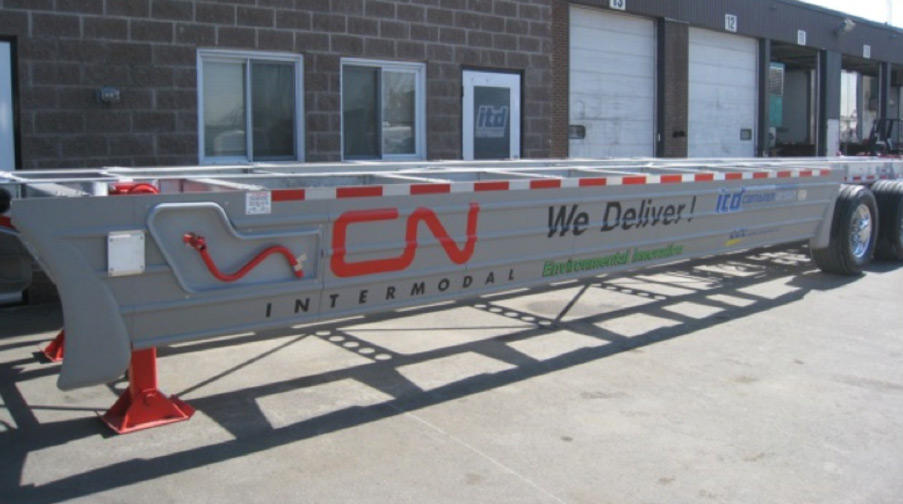 Light weight 53 feet Tridem Echo Chassis With Super Single & Side Skirts